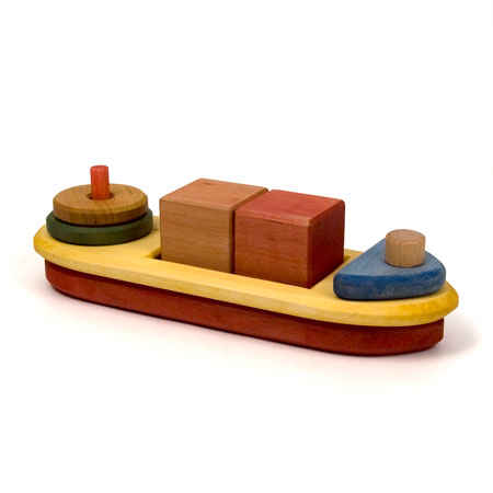 Wooden Boat Stacking Puzzle
