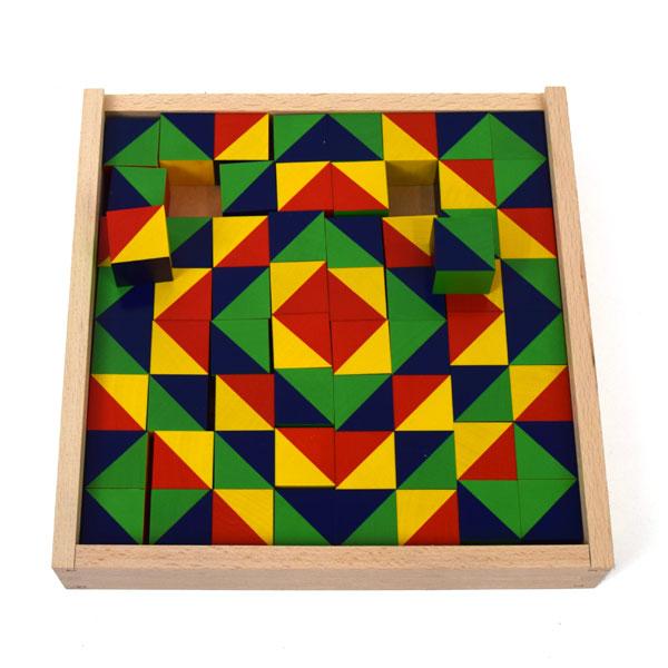 Mosaic Pattern Blocks 64 Pieces
