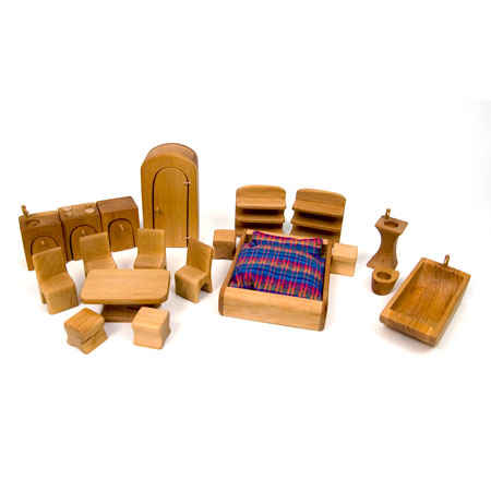 Complete Dollhouse Furniture Set