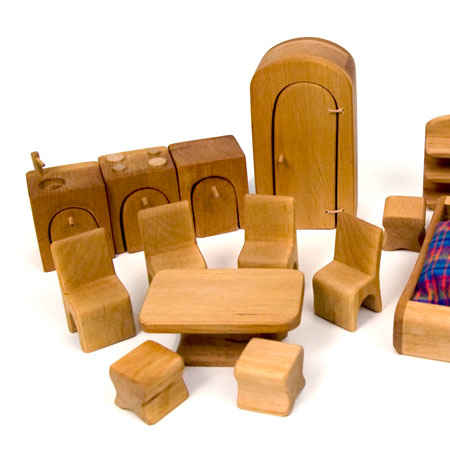 Complete Dollhouse Furniture Set