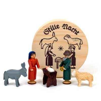 miniature nativity set boxed - Wooden Nativity Set