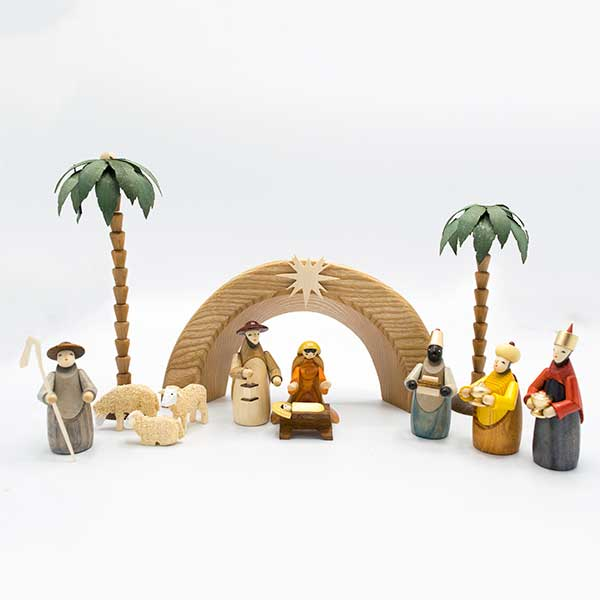 modern nativity scene - Wooden Nativity Set