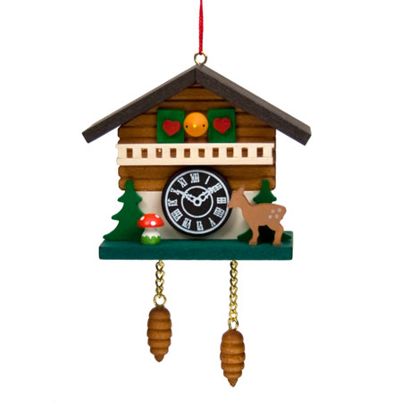 Cuckoo Clock Hanging Christmas Tree Ornament