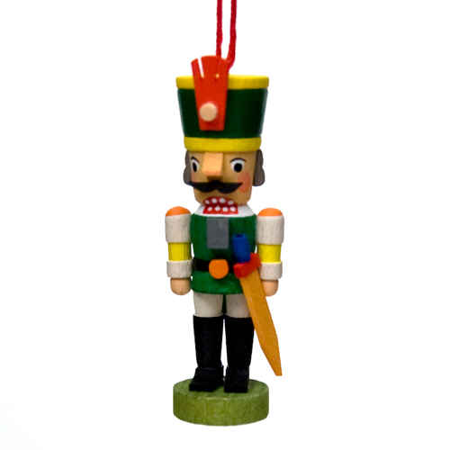 nutcracker soldier hanging ornament - German Handmade Wooden Christmas Decorations