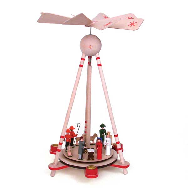 collapsible christmas pyramid with manger scene