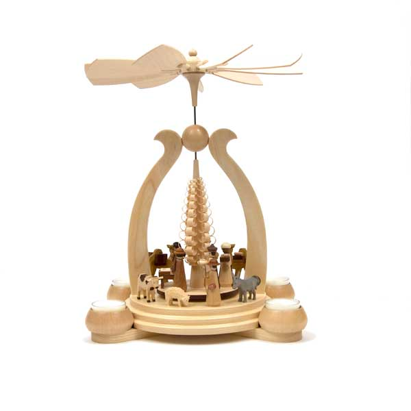 candle pyramid with nativity