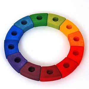Birthday Ring Rainbow 12 Pcs