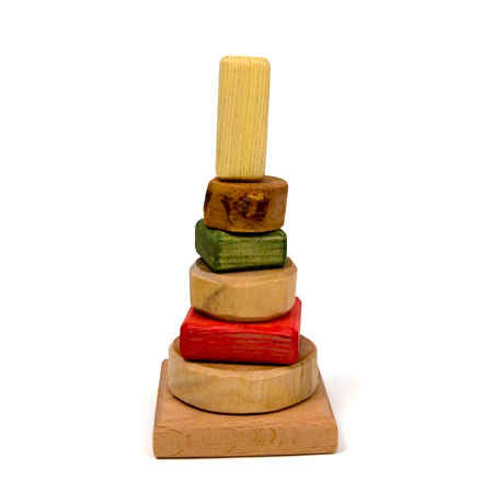 Natural Forms Wooden Stacking Tower