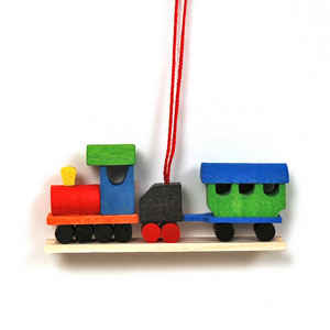train christmas tree ornament