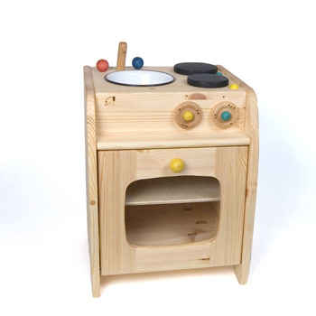 Play Kitchen in Pine - The Wooden Wagon