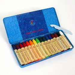 Stockmar Wax Crayons 16 Sticks Assorted