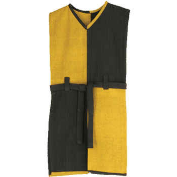 Yellow and Black Knight's Tunic