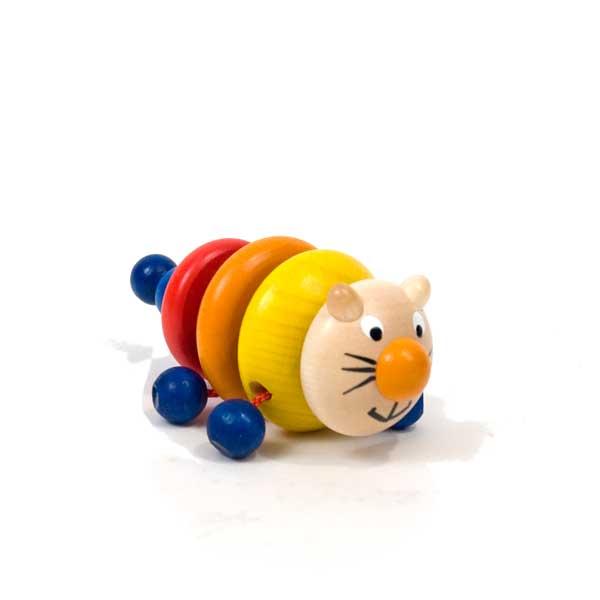 Grip-n-Car Wood Baby Rattle