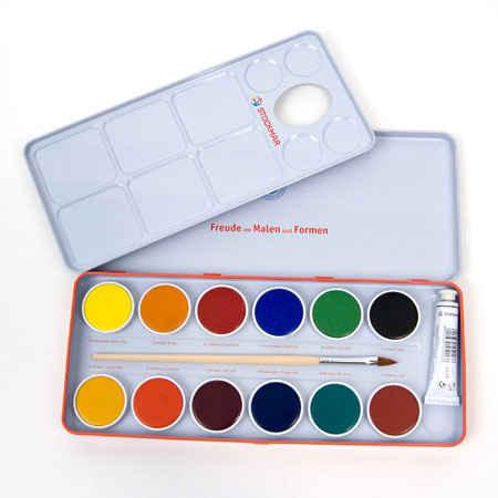 opaque watercolor paint box 12 colors