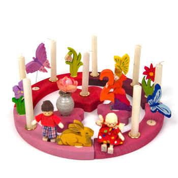 Birthday Ring 16 Holes Pink Red By Grimm S Spiel Und Holz Design