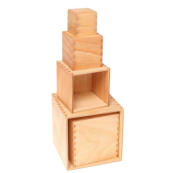 Grimm S Wooden Toys Small Natural Stacking Boxes