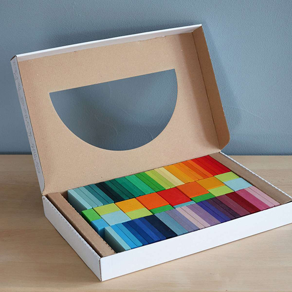 Grimms Color Charts Rally Building Blocks Set