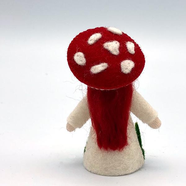 Red Mushroom Fairy Felt Doll
