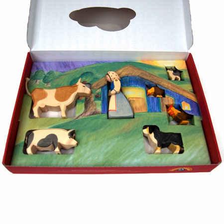 Ostheimer Waldorf Toys and Figures   Ostheimer Farm Set with