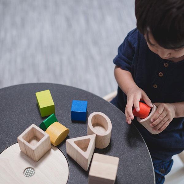 Geo Matching Blocks Plan Toys