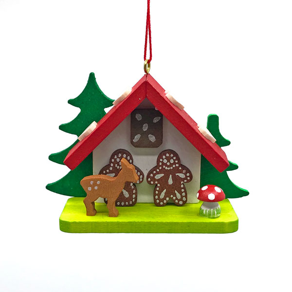 Story Behind Christmas Tree: Gingerbread House With Fawn Christmas Tree Ornament