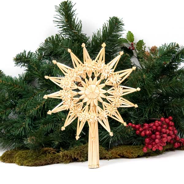 Fancy Straw Christmas Tree Topper For Smaller Trees