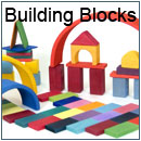 Wooden building blocks and construction toys