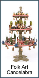 Folk art candelabra