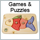 Wooden toys and games